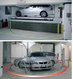 voorbeeld van een roteerbare autolift